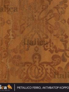 Декоративное покрытие ITALICA METALLICO (кроющая краска с эффектом металлической поверхности) 1 кг  серебряная